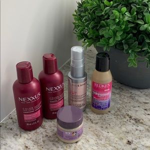 Never used Color treated hair care products